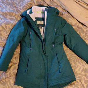Champion fleece lined down girls jacket